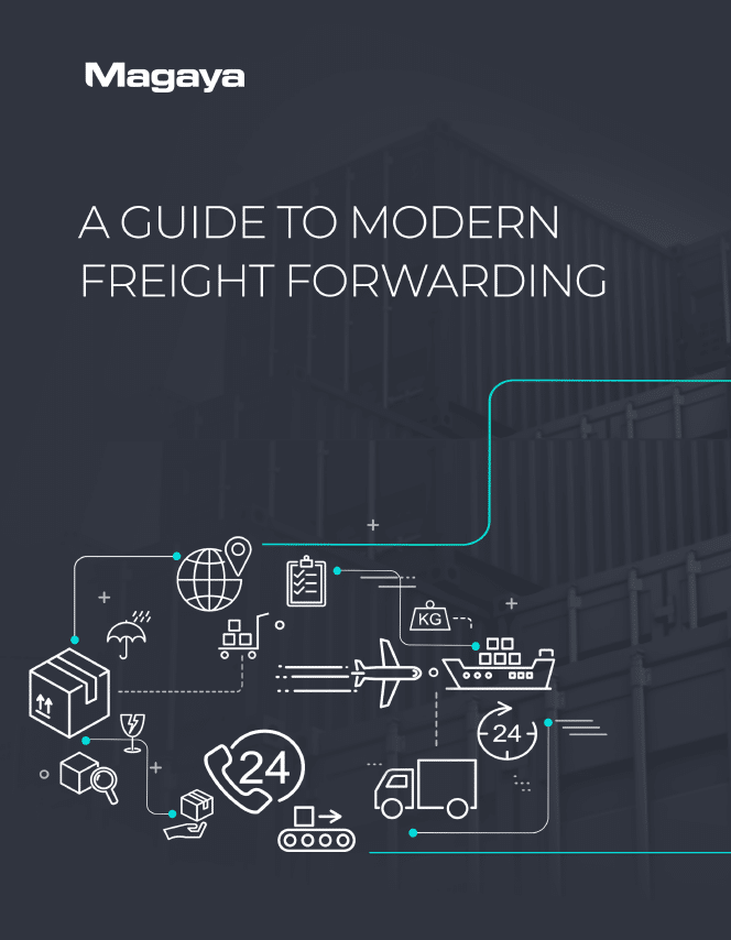 A Guide to Modern Freight Forwarding Cover Image Magaya White Paper