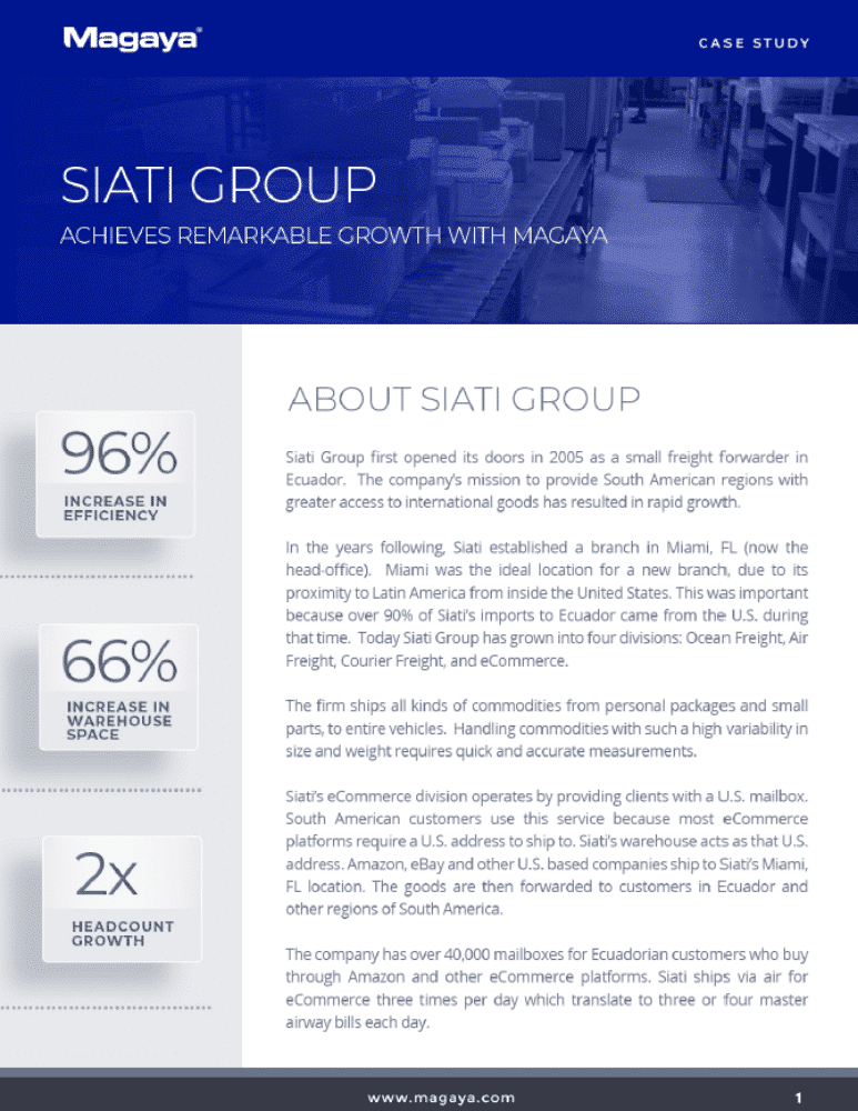 Siati Group Freight Forwarding Warehouse Case Study