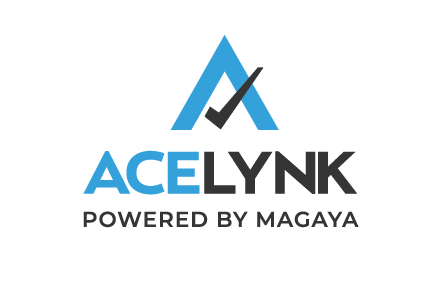 Logotipo ACELYNK Powered by Magaya  de la solución de cumplimiento de normas aduaneras con software ABI